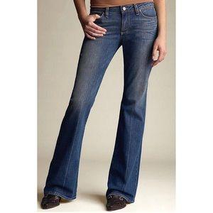 Paige Laurel Canyon Premium Creased Flare Jeans